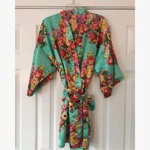 Other - Satin Floral Robe